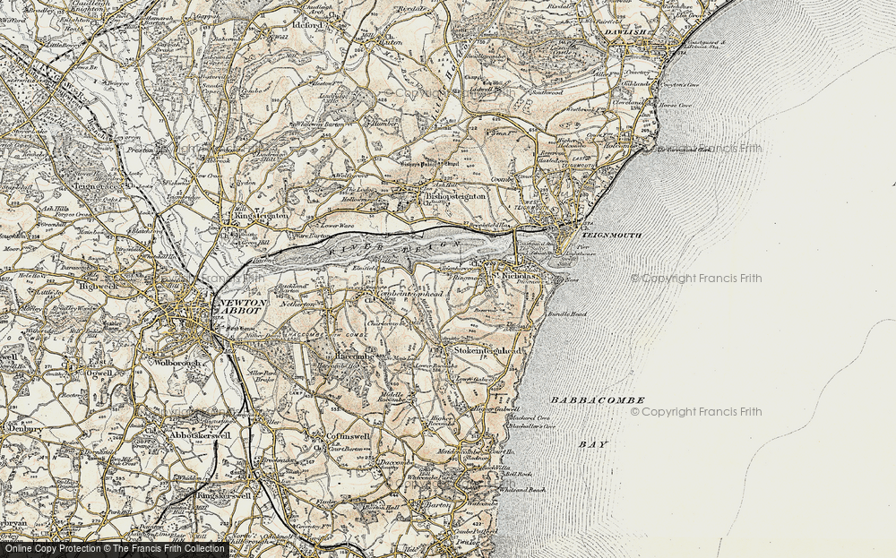 Old Map of Ringmore, 1899 in 1899