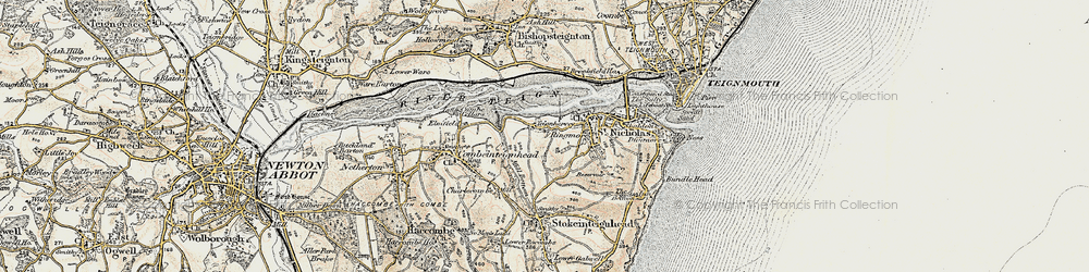 Old map of Ringmore in 1899