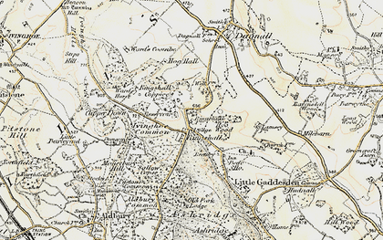 Old map of Ringshall in 1898-1899