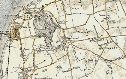 Old map of Ringstead in 1901-1902
