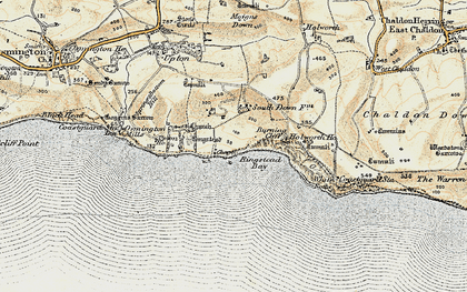 Old map of White Nothe in 1899-1909