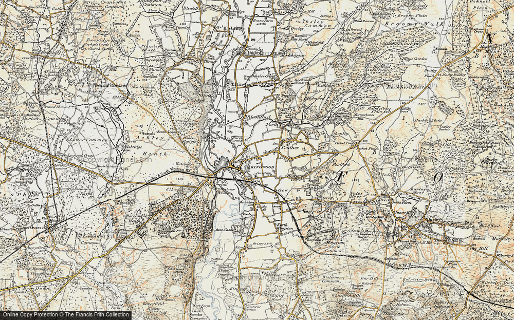 Old Map of Ringwood, 1897-1909 in 1897-1909