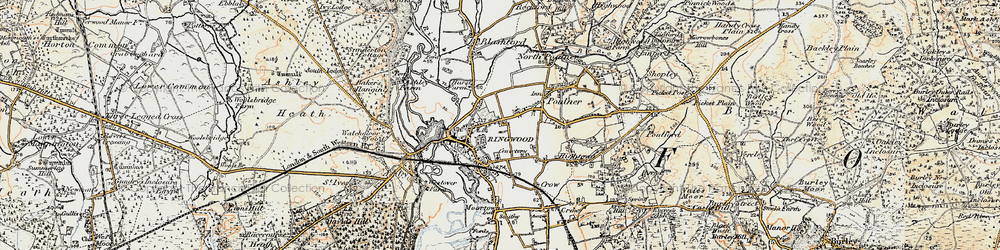 Old map of Ringwood in 1897-1909