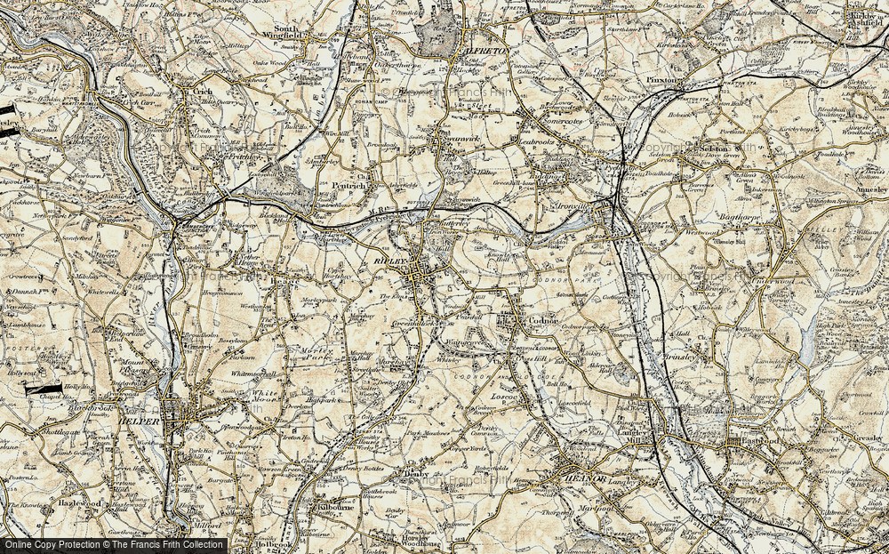 Old Map of Ripley, 1902 in 1902
