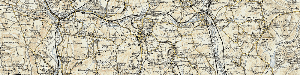Old map of Ripley in 1902