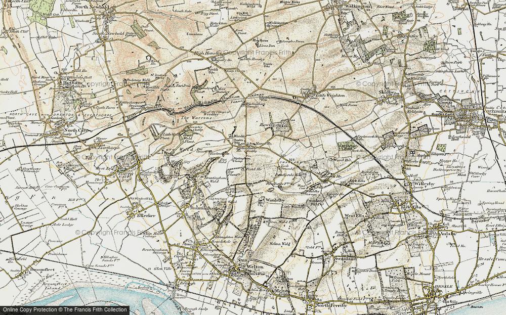Old Map of Riplingham, 1903-1908 in 1903-1908