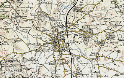 Old map of Ripon in 1903-1904