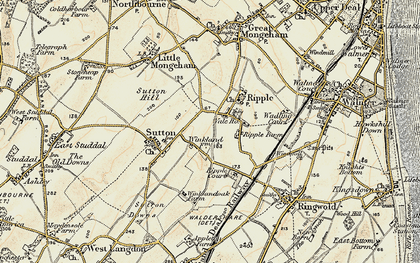 Old map of Ripple in 1898-1899