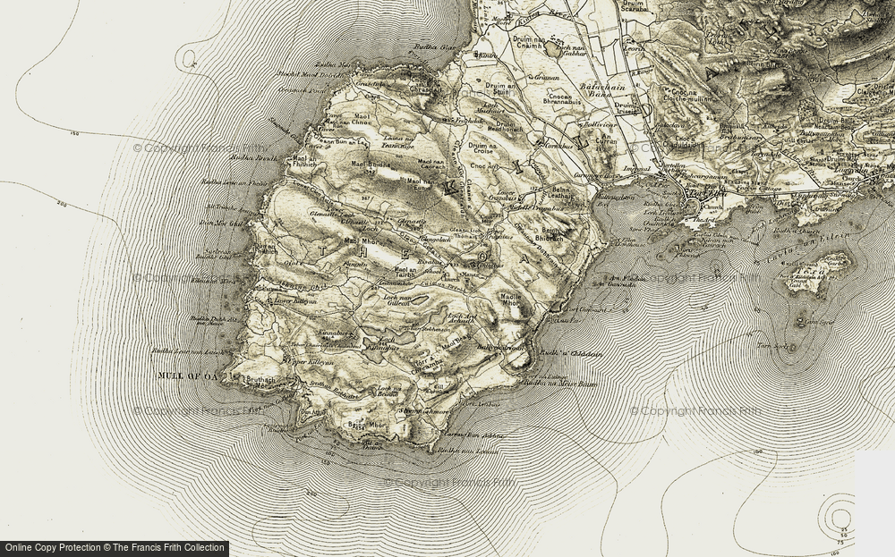 Old Map of Historic Map covering Abhainn Ghil in 1905-1906