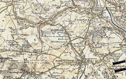 Old map of Rise End in 1902-1903