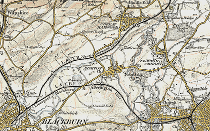 Old map of Rishton in 1903