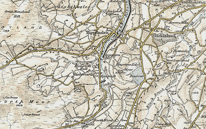 Old map of Rishworth in 1903