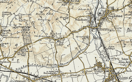 Old map of Risley in 1902-1903