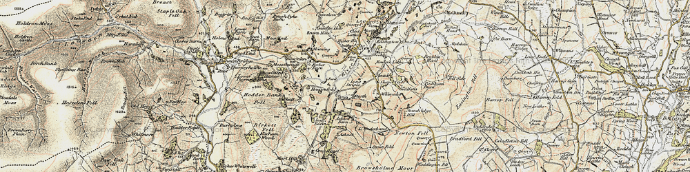 Old map of Windyates in 1903-1904