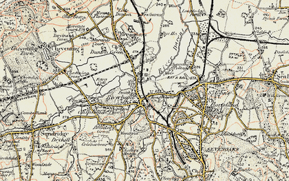 Old map of Riverhead in 1897-1898
