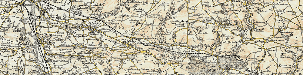 Old map of Yeoland Ho in 1900