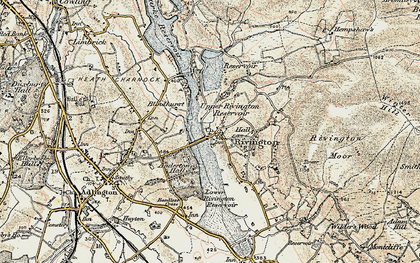Old map of Alance Bridge in 1903