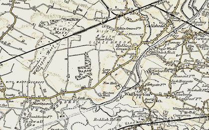 Old map of Rixton in 1903
