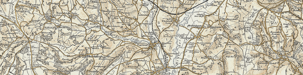 Old map of Willhayne in 1898-1900