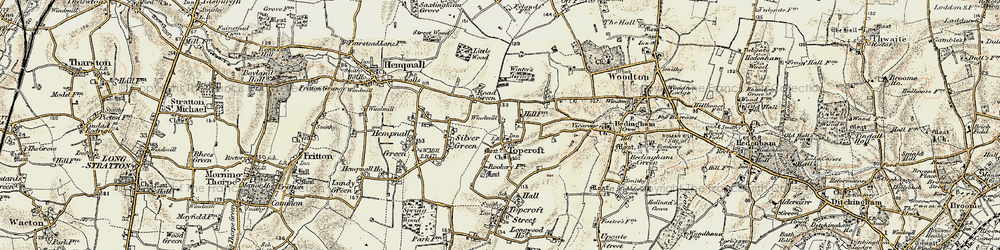 Old map of Winter's Grove in 1901-1902