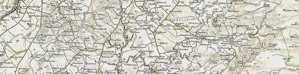 Old map of Whitberry Burn in 1901-1904