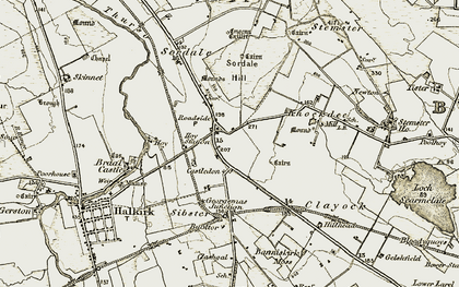 Old map of Achingills in 1911-1912