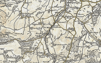 Old map of Roadwater in 1898-1900