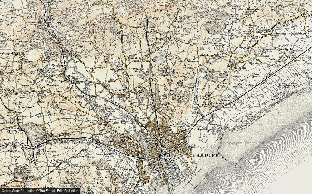 Roath Park Map Map of Roath Park, 1899 1900   Francis Frith