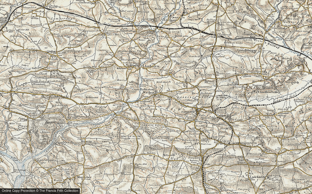 Old Map of Historic Map covering Woodfield in 1901-1912