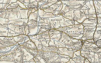 Old map of Woodfield in 1901-1912