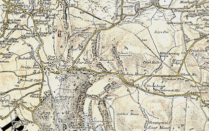 Old map of Robin Hood in 1902-1903