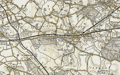 Old map of Roby in 1902-1903