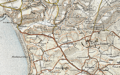 Old map of Roch in 0-1912