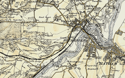 Old map of Rochester in 1897-1898