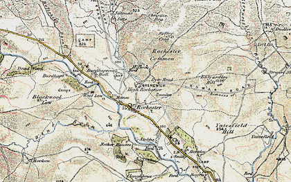 Old map of Toft Ho in 1901-1904