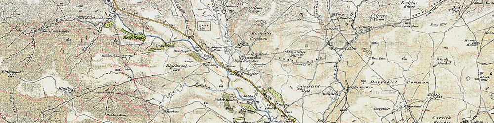 Old map of Woolaw in 1901-1904