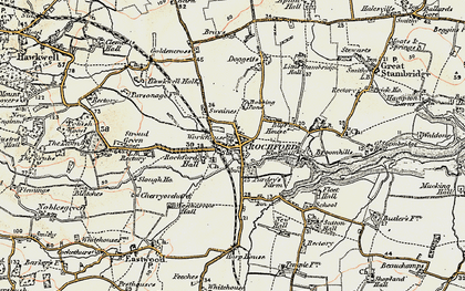 Old map of Rochford in 1898