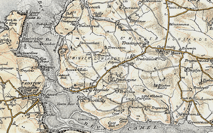 Old map of Rock in 1900