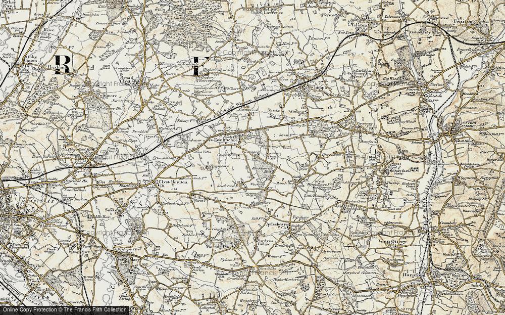 Old Map of Rockbeare, 1898-1900 in 1898-1900