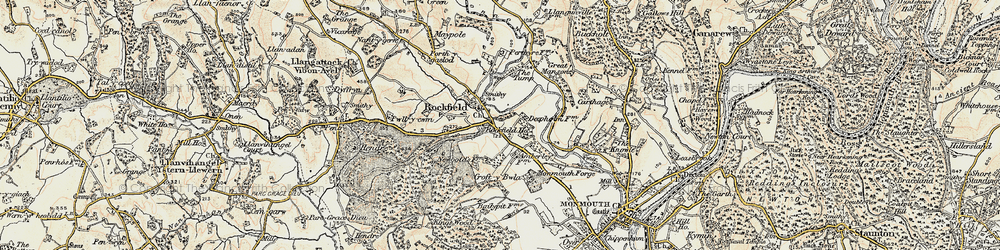 Old map of Amberley Court in 1899-1900