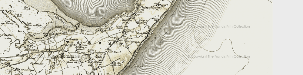 Old map of Wester Seafield in 1910-1912