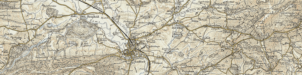 Old map of Wigley in 1901-1902