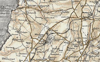 Old map of Rockhead in 1900