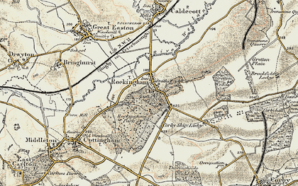 Old map of Rockingham in 1901-1902