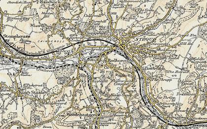 Old map of Rodborough in 1898-1900