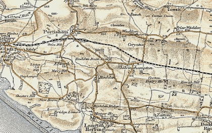 Old map of Wyke Wood in 1899
