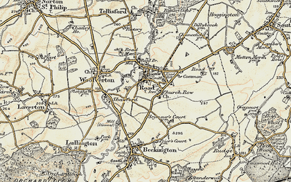 Old map of Rode in 1898-1899
