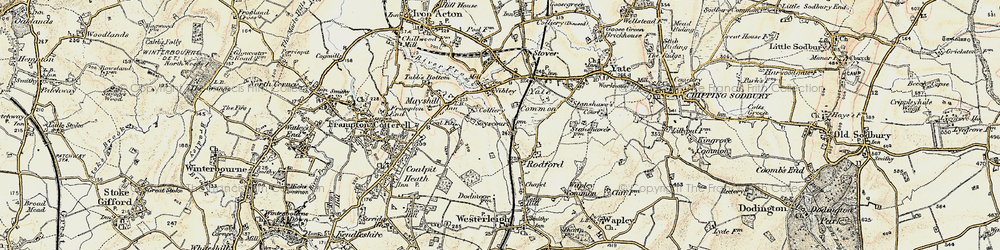Old map of Westerleigh Common in 1899