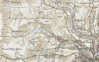 Old map of Widdop Gate in 1903