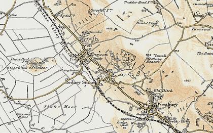 Old map of Rodney Stoke in 1899-1900